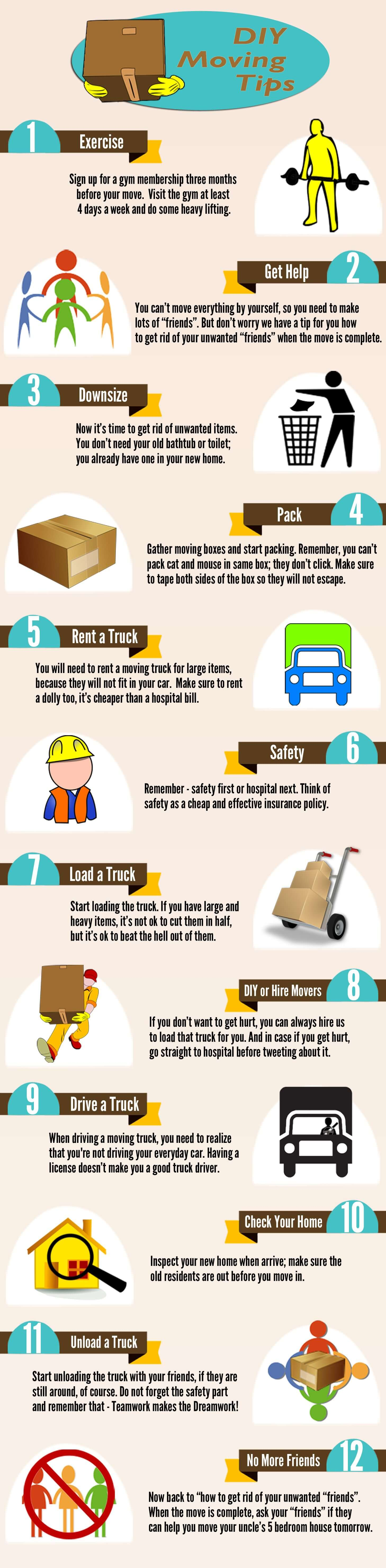 Funny DIY Moving Tips