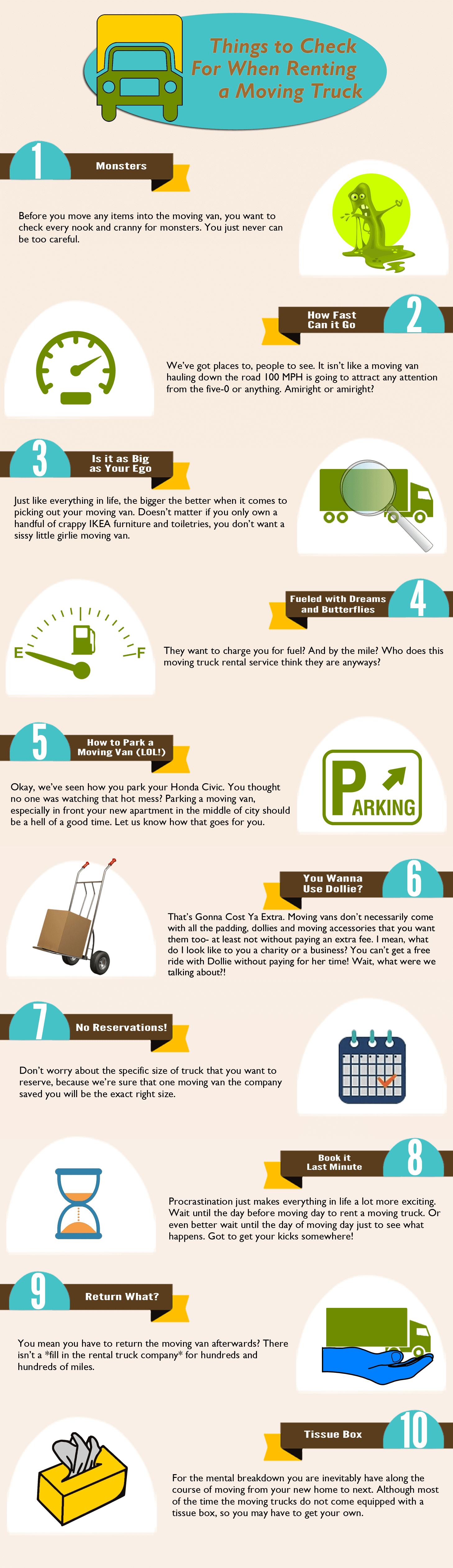 Funny Checklist For Rental Trucks
