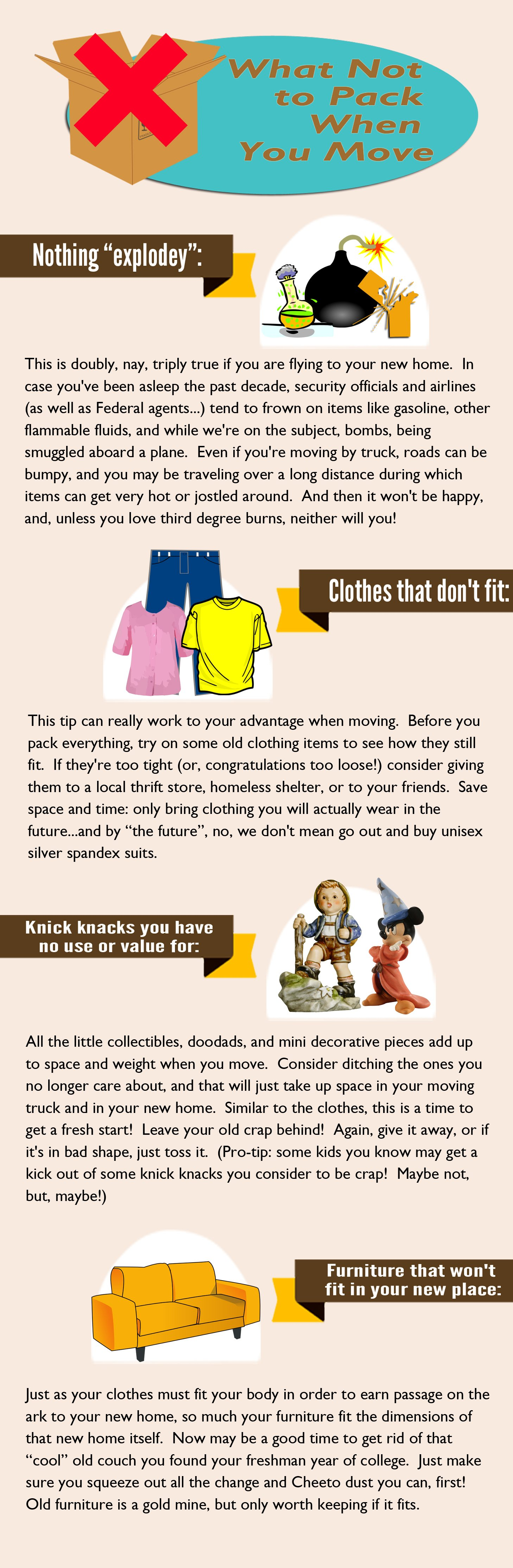 What Not To Pack When Moving